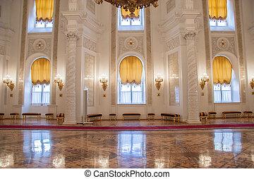 moscú, palacio, kremlin, georgievsky, vestíbulo