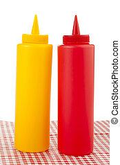 Mostaza y ketchup