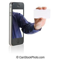 Mostrando una tarjeta en blanco