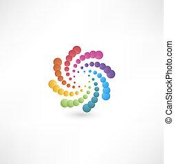 motion., diseño, espiral, elementos