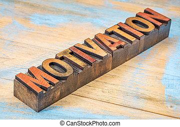 Motivación palabra en tipo madera