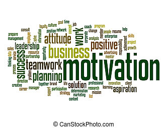 motivación, palabra, nube