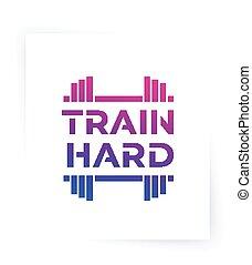 motivación, tren, gimnasio, duro, entrenamiento, condición física, cartel