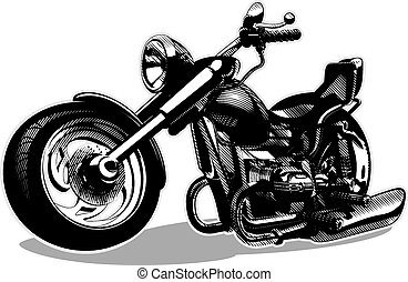 Motocicleta de dibujos animados Vector