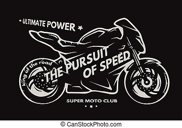 Motocicleta de súper moto deportiva.