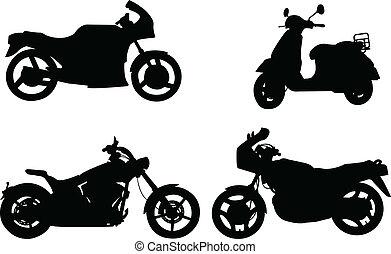 Motocicletas siluetas