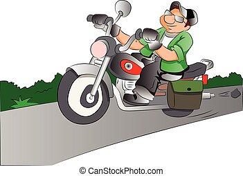 Motociclista, ilustración