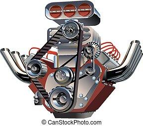 Motor turbo de dibujos animados
