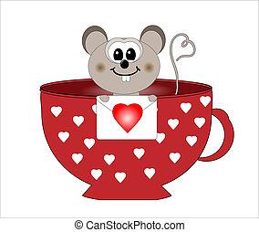 Mouse en vector de amor