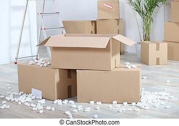 Moviéndose con cartón