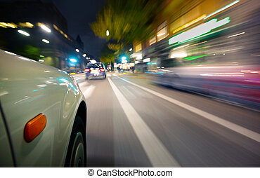 movimiento, coche, mancha