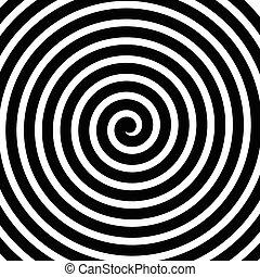 movimiento, espiral, girar, líneas, plano de fondo, concéntrico, voluta, circular
