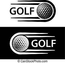 movimiento, símbolo, línea, pelota de golf
