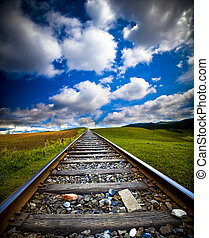 movimiento, tren, mancha