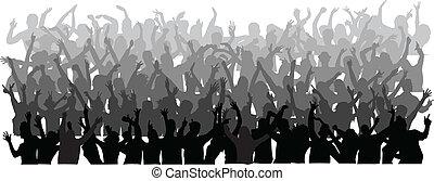 Mucha gente bailando