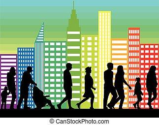 Mucha gente caminando