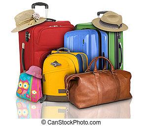 Muchas maletas de viaje