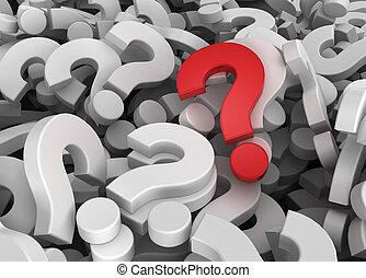 muchos, único, preguntas, uno