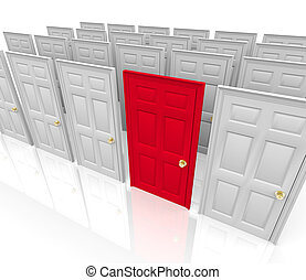 muchos, -, elegir, puertas