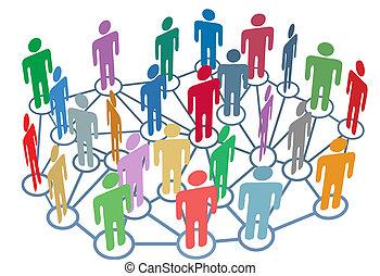 Muchos grupos hablan de medios sociales de la red