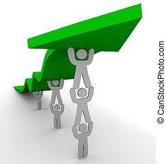 Muchos lanzan flechas verdes