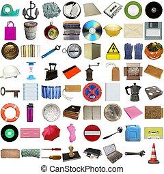 Muchos objetos aislados