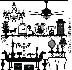 Muebles de decoración antigua