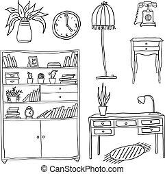 Muebles, elementos de diseño