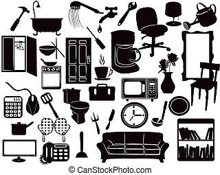 muebles, iconos