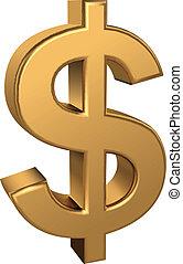 muestra del dólar