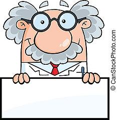 muestra en blanco, profesor, encima