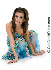 Mujer adolescente formal