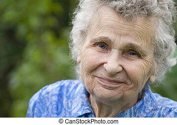 mujer, anciano