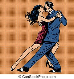 mujer, beso, arte, hombre, tango, baile, taponazo
