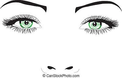 Mujer cara a cara ilustración vectora