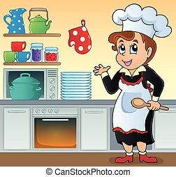 Mujer cocina tema imagen 1