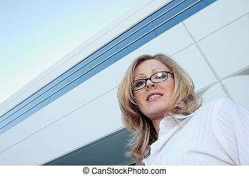 mujer, corporativo
