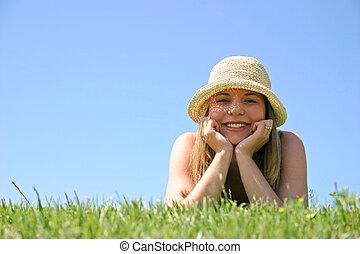 Mujer de hierba