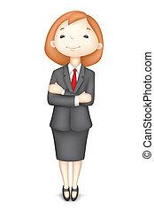 Mujer de negocios confiada 3 en vector
