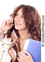 Mujer de negocios de celular