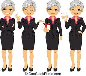 Mujer de negocios de la oficina principal