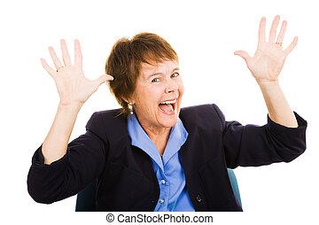 Mujer de negocios - excitación