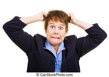 Mujer de negocios - frustración