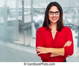 Mujer de negocios joven.