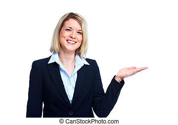 Mujer de negocios profesional.