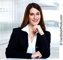 Mujer de negocios.