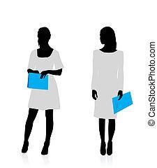 Mujer de negocios siluetas