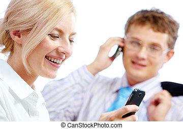 mujer de teléfono, celular