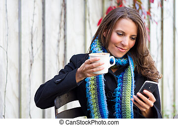 Mujer del celular