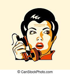 Mujer del teléfono